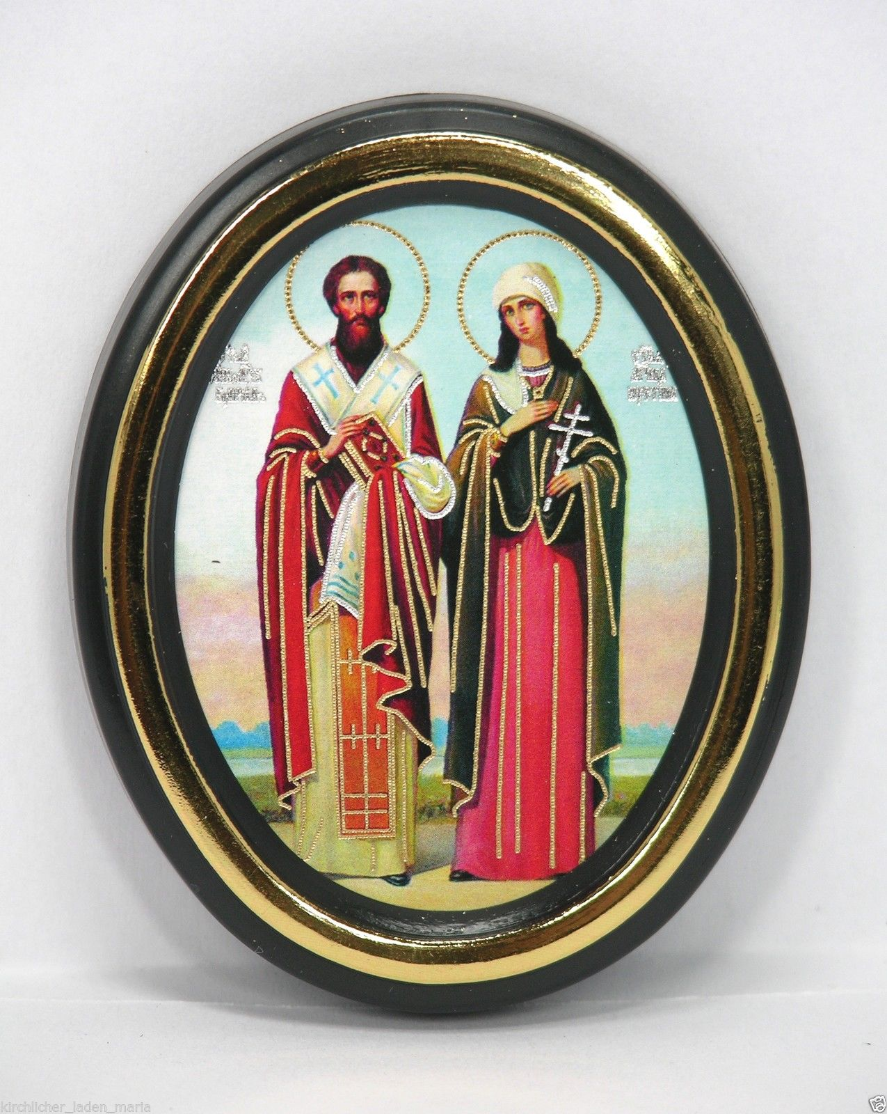 Consecrated icon Cyprian and Justina