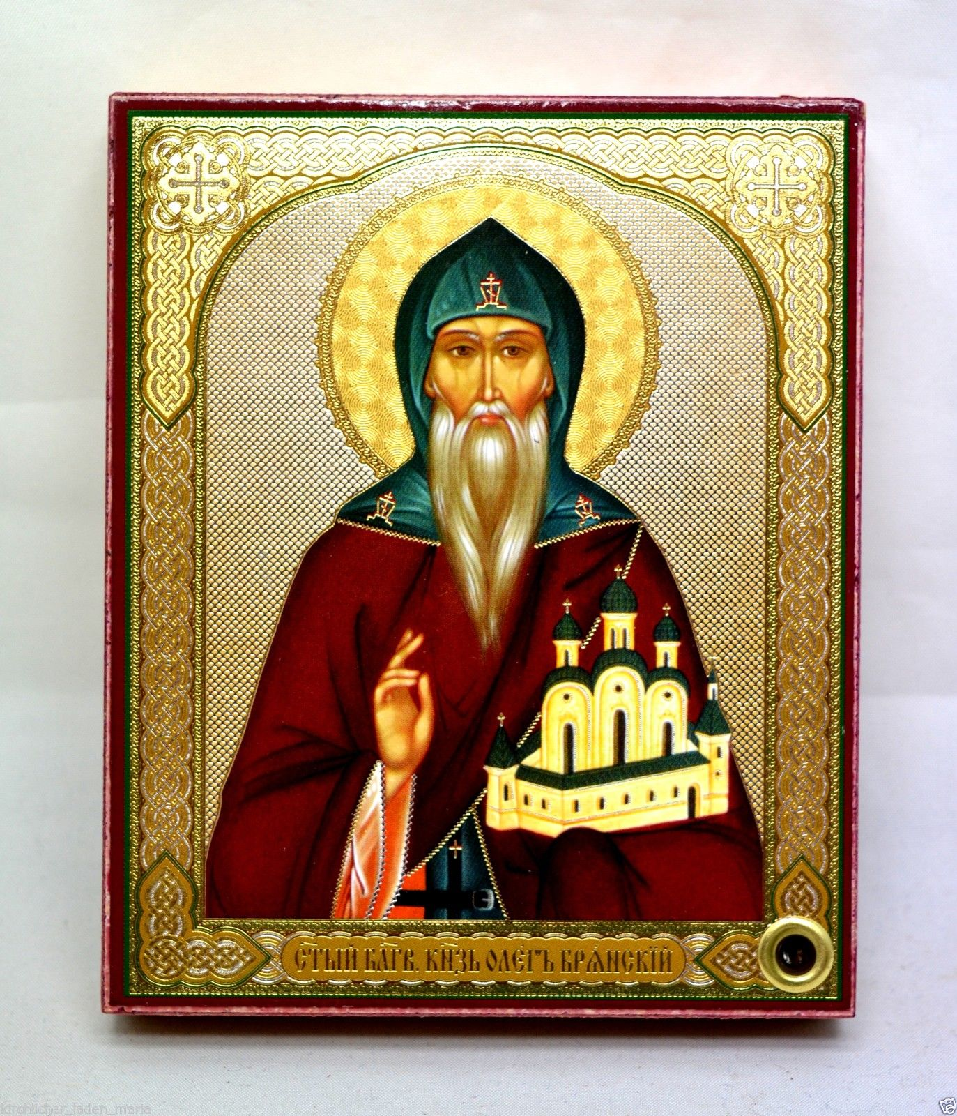 Icon Holy Oleg consecrated wood panel