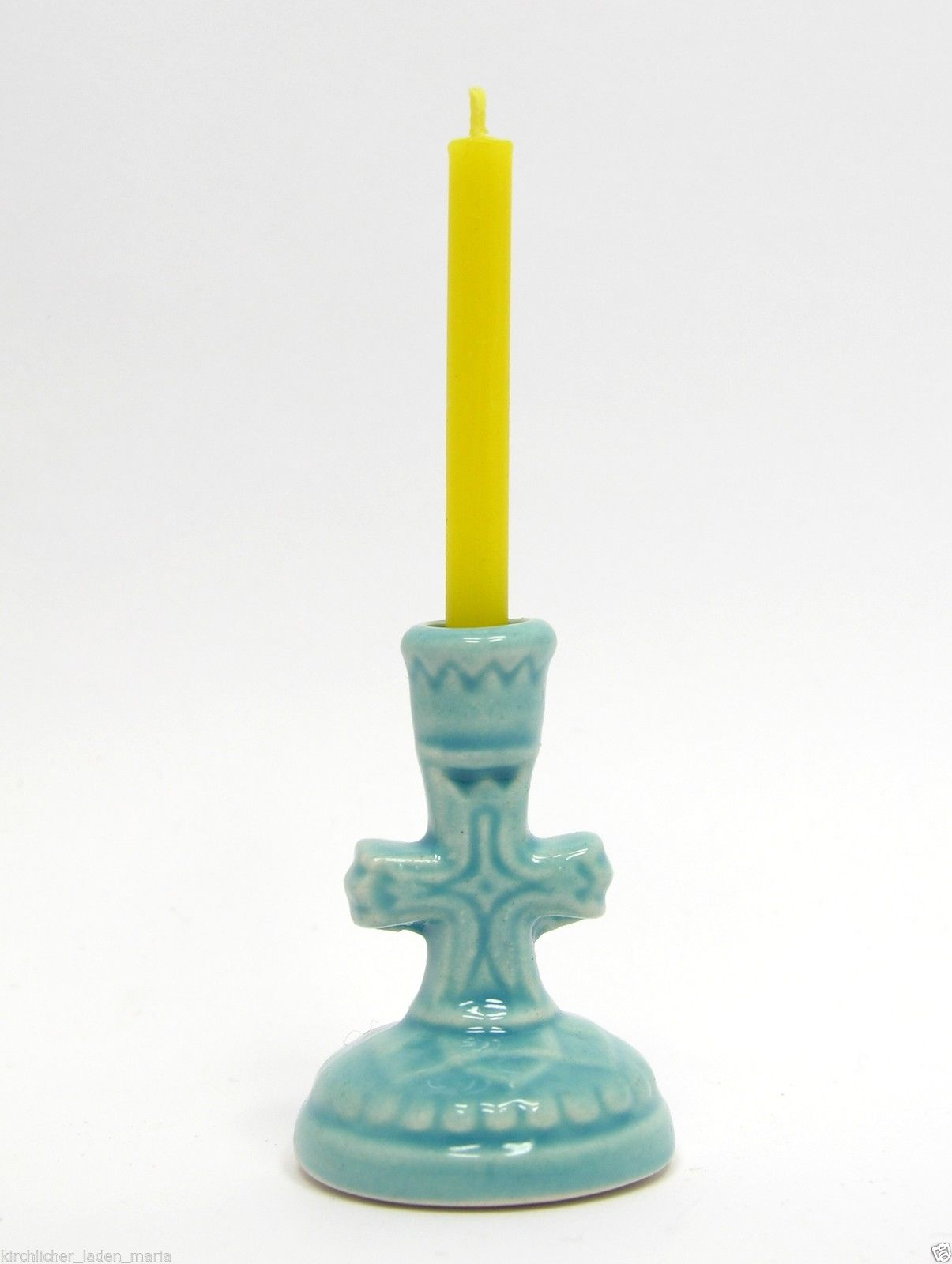 Ceramic Candle Holder Cross